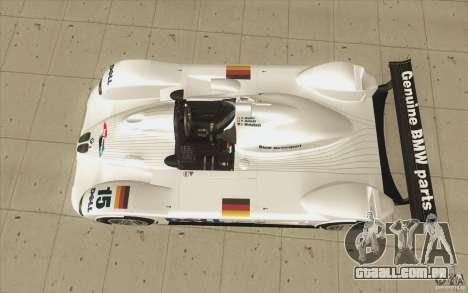 BMW V12 LeMans - Stock para GTA San Andreas vista direita