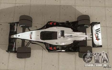 McLaren Mercedes MP 4-19 para GTA San Andreas vista direita
