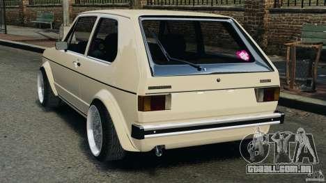 Volkswagen Golf Mk1 Stance para GTA 4 traseira esquerda vista