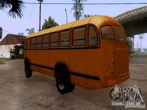 LIAZ 158 para GTA San Andreas traseira esquerda vista
