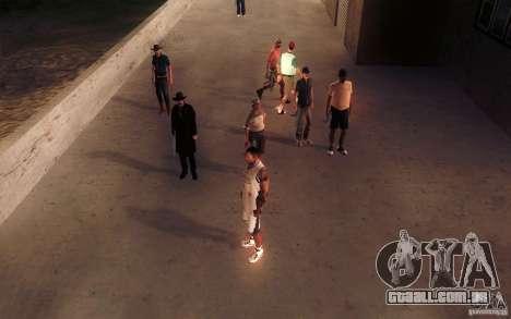 Sombras mais fortes em pedestres para GTA San Andreas sétima tela