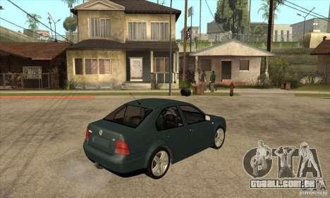 Volkswagen Bora-Golf para GTA San Andreas vista direita