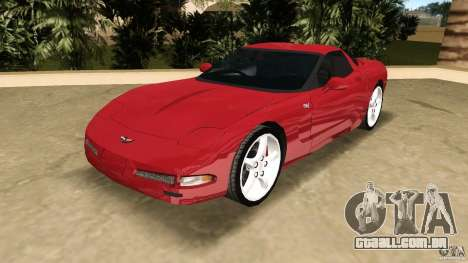 Chevrolet Corvette Z05 para GTA Vice City vista traseira
