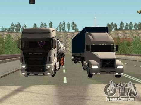 Scania R700 Euro 6 para vista lateral GTA San Andreas