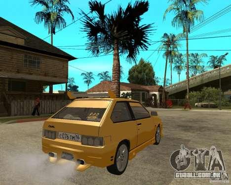 ВАЗ 2108 esporte Yucca para GTA San Andreas traseira esquerda vista