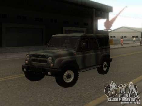 UAZ-3153 para GTA San Andreas vista traseira