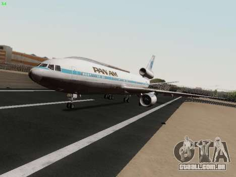 McDonell Douglas DC-10-30 PanAmerican Airways para GTA San Andreas esquerda vista