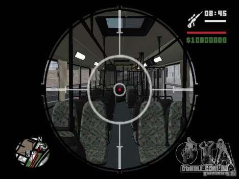 Ikarus 415.02 para GTA San Andreas vista inferior
