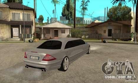 Mercedes-Benz CL65 Limusine para GTA San Andreas vista direita