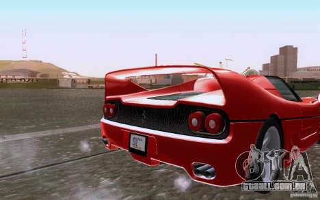 Ferrari F50 v1.0.0 1995 para GTA San Andreas vista traseira