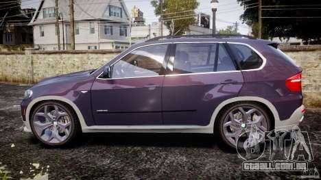 BMW X5 xDrive 4.8i 2009 v1.1 para GTA 4 esquerda vista