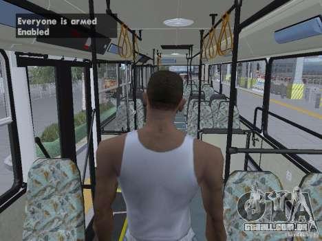 Ikarus 415 para GTA San Andreas interior