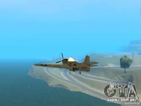 P-51 Mustang para GTA San Andreas vista direita