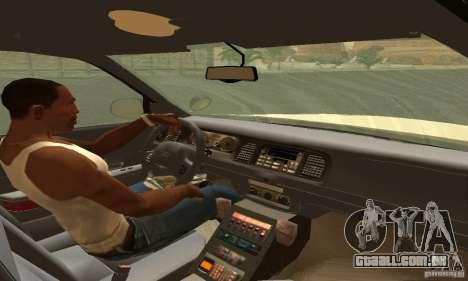 Ford Crown Victoria Puerto Rico Police para GTA San Andreas traseira esquerda vista
