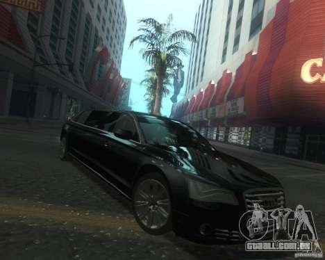 Audi A8 2011 Limo para GTA San Andreas vista traseira