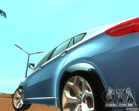 BMW Motorsport X6 M v. 2.0 para GTA San Andreas vista interior