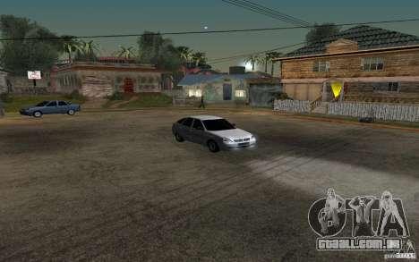 Hatchback tuning luz de LADA priora para GTA San Andreas vista interior