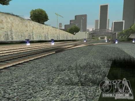 Luzes de tráfego ferroviário para GTA San Andreas por diante tela