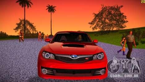 Subaru Impreza WRX STI (GRB) - LHD para GTA Vice City vista interior