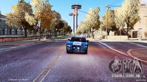 POLICIA FEDERAL MEXICO DODGE CHARGER ELS para GTA 4 vista lateral