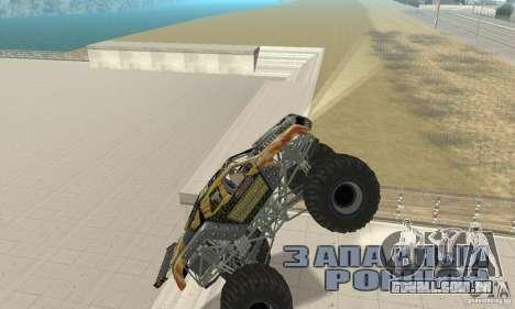 Monster Truck Maximum Destruction para GTA San Andreas vista traseira