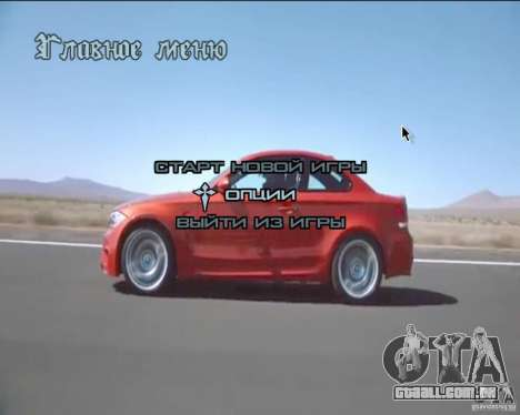 A plano de fundo no menu para GTA San Andreas segunda tela
