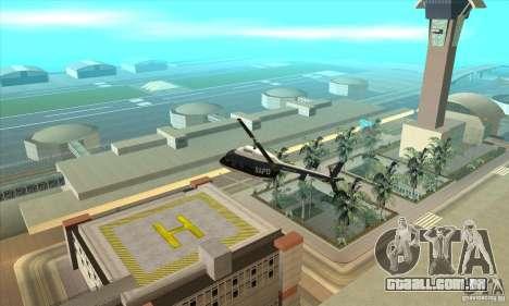 Police Maverick 2 para GTA San Andreas esquerda vista