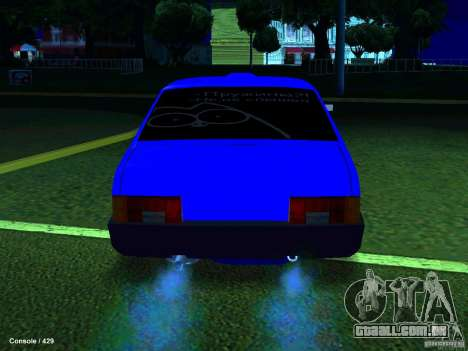 VAZ 21099 Turbo para GTA San Andreas vista direita