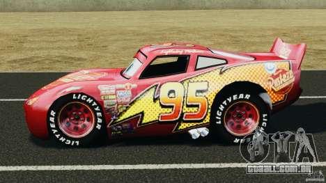 Lightning McQueen para GTA 4 esquerda vista