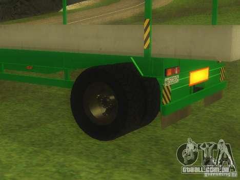 TCM trailer-993910 para GTA San Andreas vista traseira