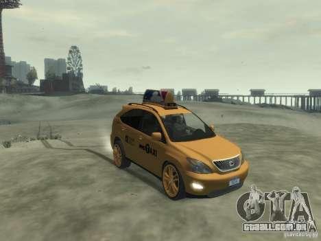 Lexus RX400 New York Taxi para GTA 4 esquerda vista