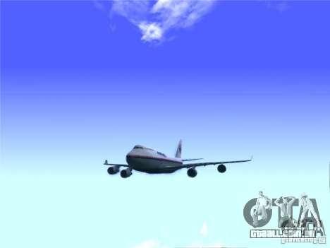 Boeing 747-400 Malaysia Airlines para GTA San Andreas vista direita
