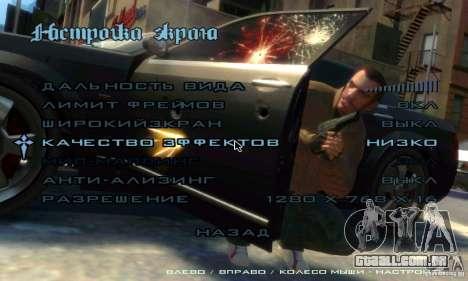 Menu no estilo do GTA 4 para GTA San Andreas terceira tela