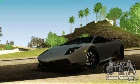 Lamborghini Murcielago LP 670-4 SV para vista lateral GTA San Andreas