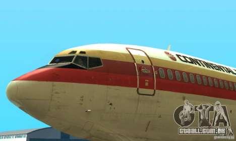 Boeing 707-300 para GTA San Andreas traseira esquerda vista