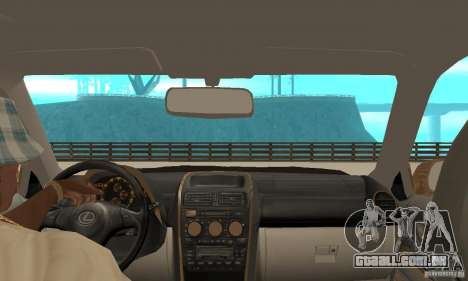 Lexus IS300 2005 para GTA San Andreas vista traseira