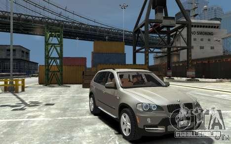 BMW X5 2009 para GTA 4 vista de volta