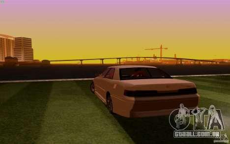 Toyota Mark 2 JZX100 para GTA San Andreas traseira esquerda vista