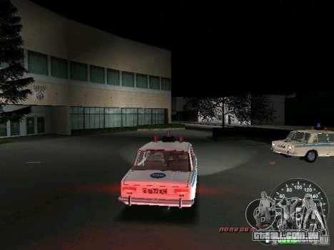 Polícia de 2101 VAZ para GTA Vice City vista direita