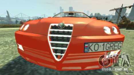Alfa Romeo GTV Spider para GTA 4 vista lateral