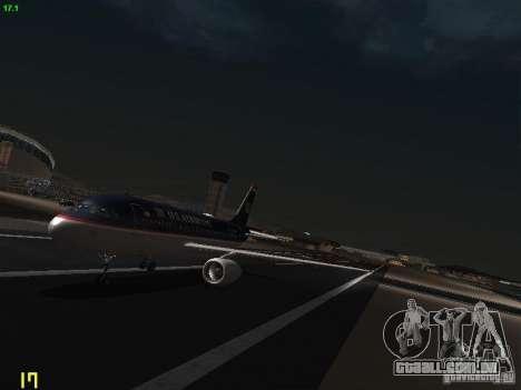 Airbus A319 USAirways para GTA San Andreas esquerda vista