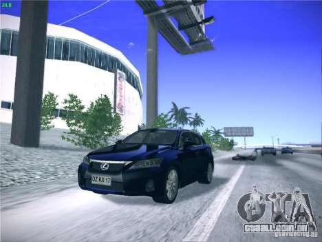 Lexus CT200H 2012 para GTA San Andreas vista traseira