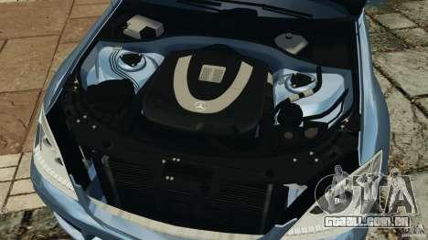Mercedes-Benz S W221 Wald Black Bison Edition para GTA 4 vista superior