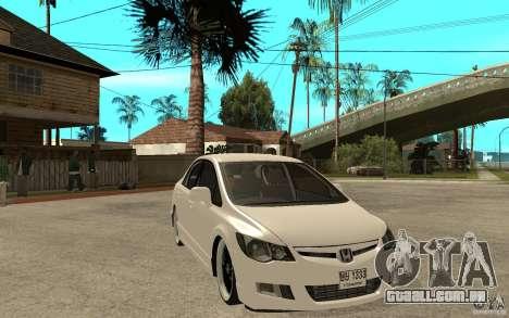 Honda Civic FD para GTA San Andreas vista traseira