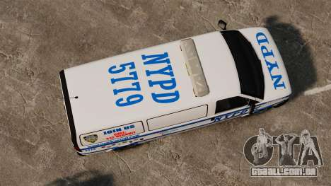 Polícia Speedo para GTA 4 vista direita