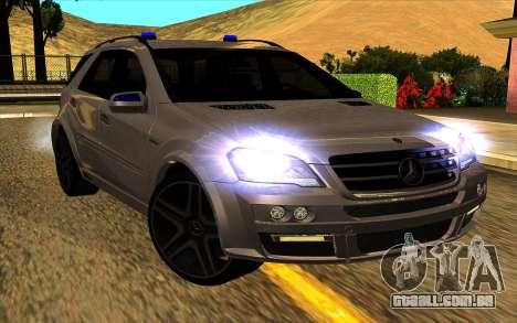Mercedes-Benz ML63 AMG W165 Brabus para GTA San Andreas vista interior