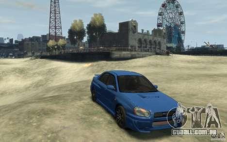 Subaru Impreza WRX STi v1 2004 para GTA 4 vista de volta