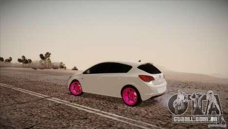 Opel Astra 2010 para GTA San Andreas esquerda vista