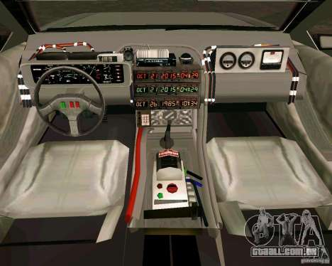BTTF DeLorean DMC 12 para GTA Vice City deixou vista
