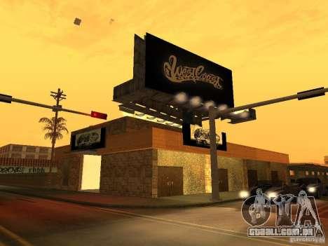 New PaynSpay: West Coast Customs para GTA San Andreas segunda tela